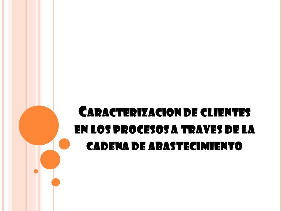 Caracterizacion de clientes en los procesos a traves de la cadena de abastecimiento