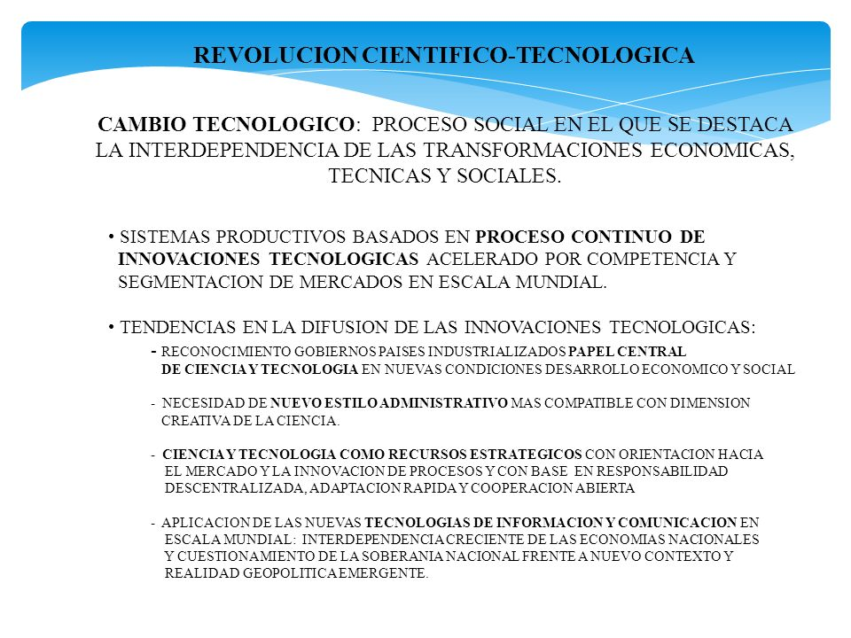 REVOLUCION CIENTIFICO-TECNOLOGICA