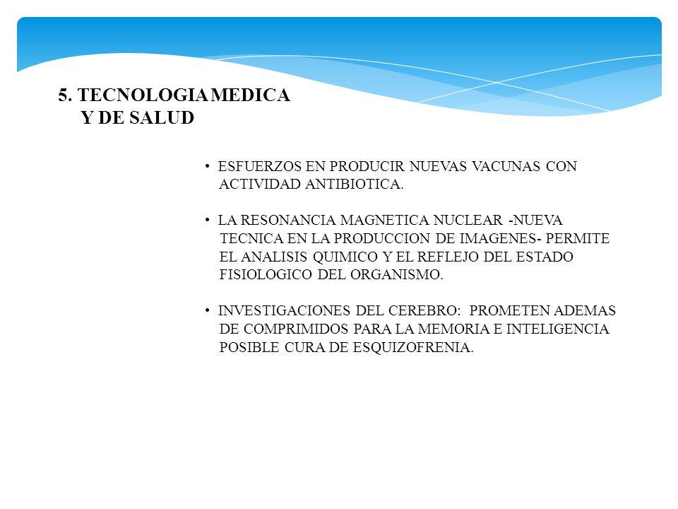 5. TECNOLOGIA MEDICA Y DE SALUD