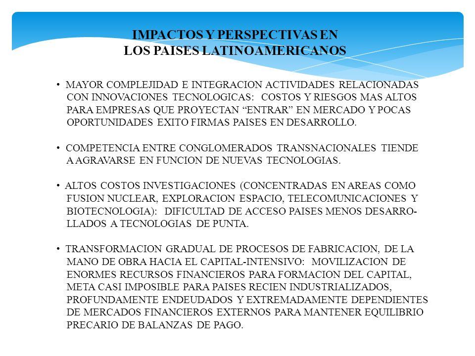 IMPACTOS Y PERSPECTIVAS EN LOS PAISES LATINOAMERICANOS