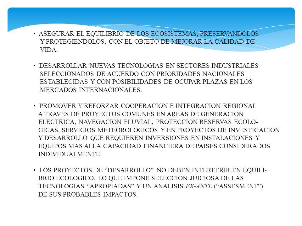 ASEGURAR EL EQUILIBRIO DE LOS ECOSISTEMAS, PRESERVANDOLOS