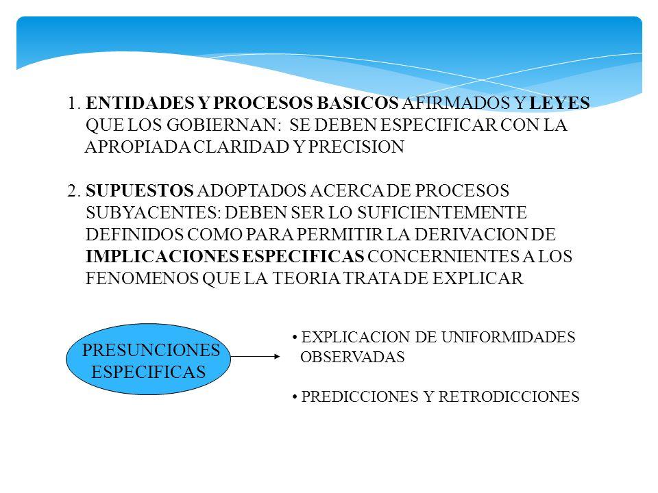 1. ENTIDADES Y PROCESOS BASICOS AFIRMADOS Y LEYES
