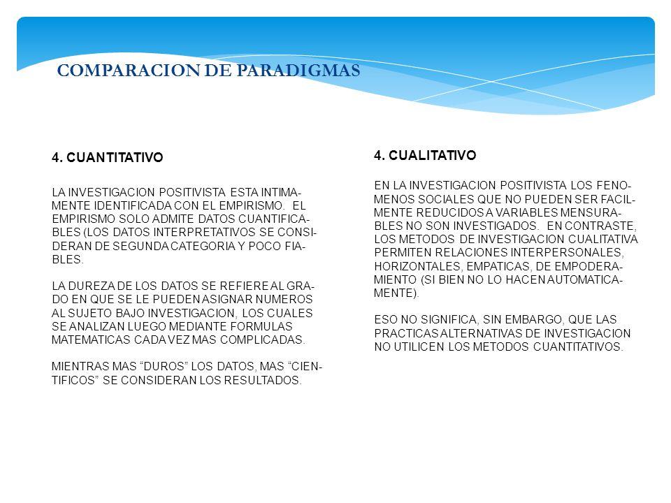 COMPARACION DE PARADIGMAS