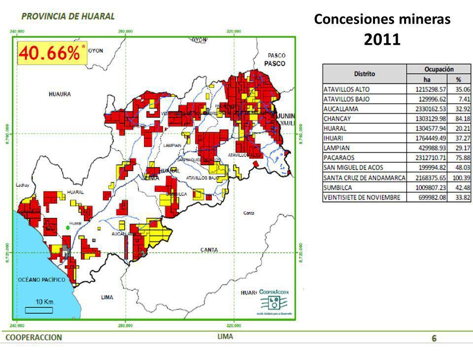Concesiones mineras 2011