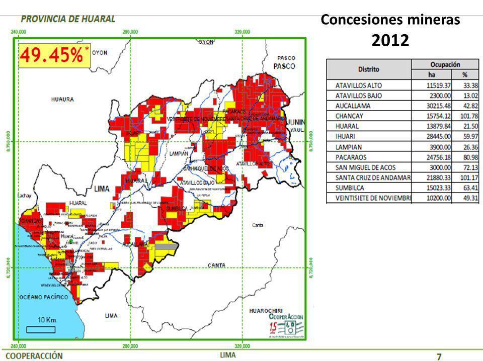 Concesiones mineras 2012