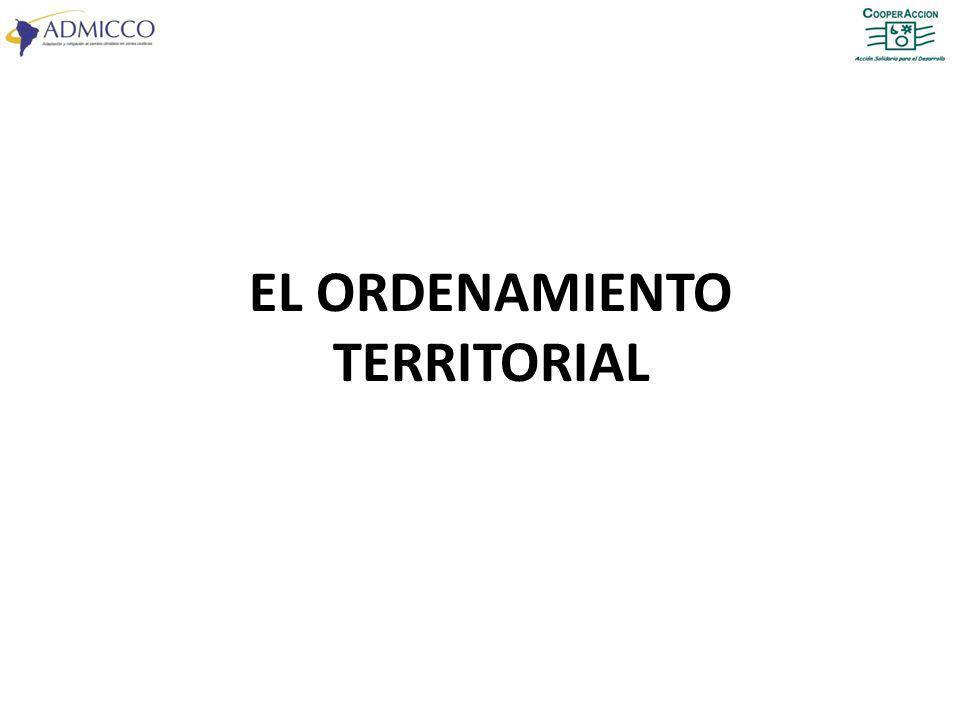 EL ORDENAMIENTO TERRITORIAL