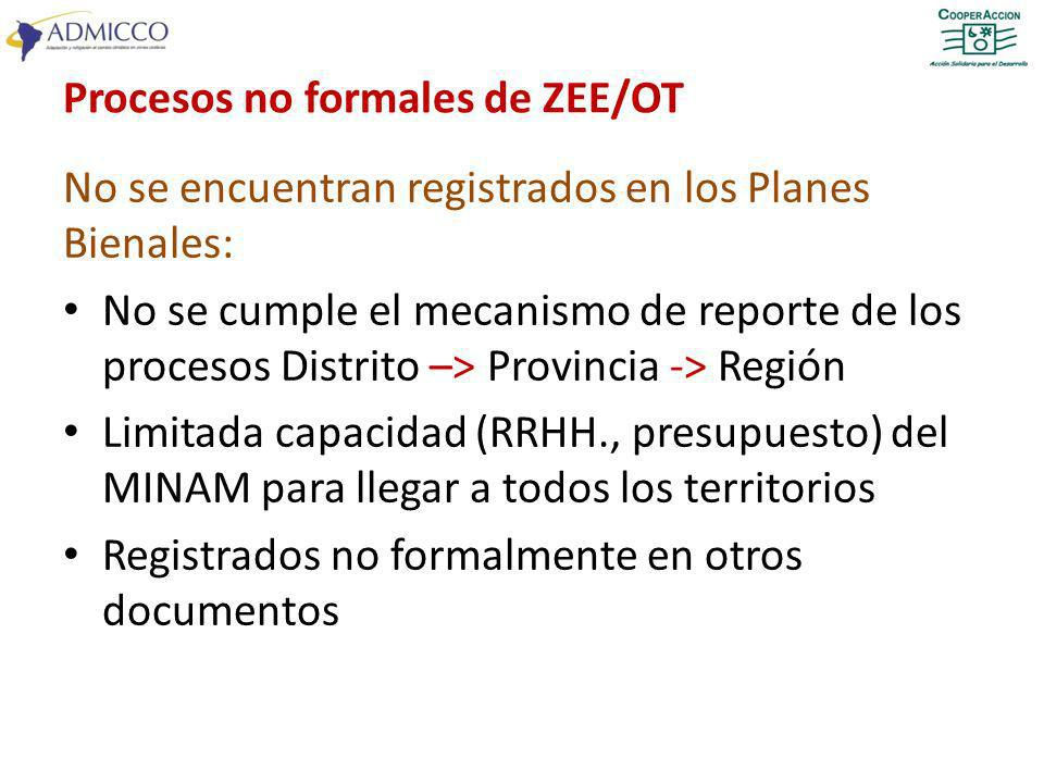 Procesos no formales de ZEE/OT