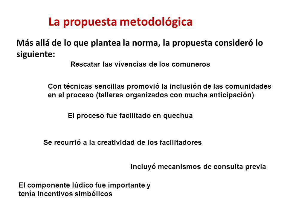 La propuesta metodológica