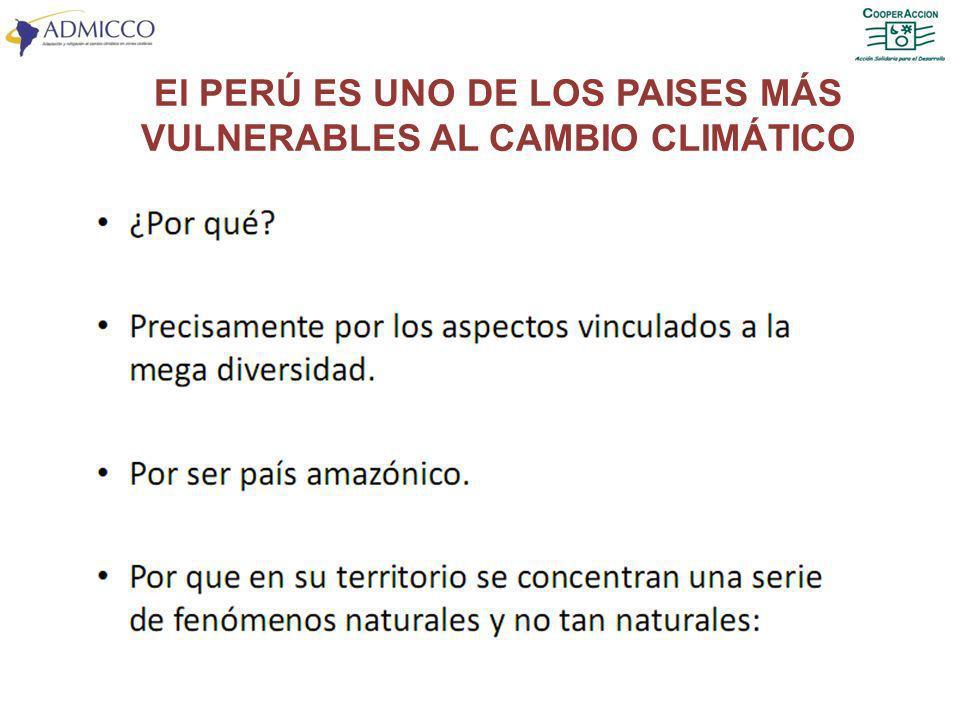 El PERÚ ES UNO DE LOS PAISES MÁS VULNERABLES AL CAMBIO CLIMÁTICO