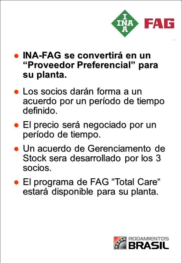 INA-FAG se convertirá en un Proveedor Preferencial para su planta.