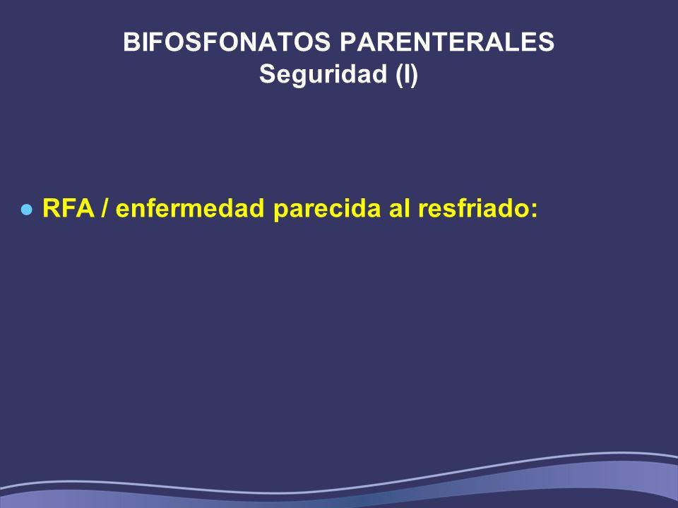 BIFOSFONATOS PARENTERALES Seguridad (I)