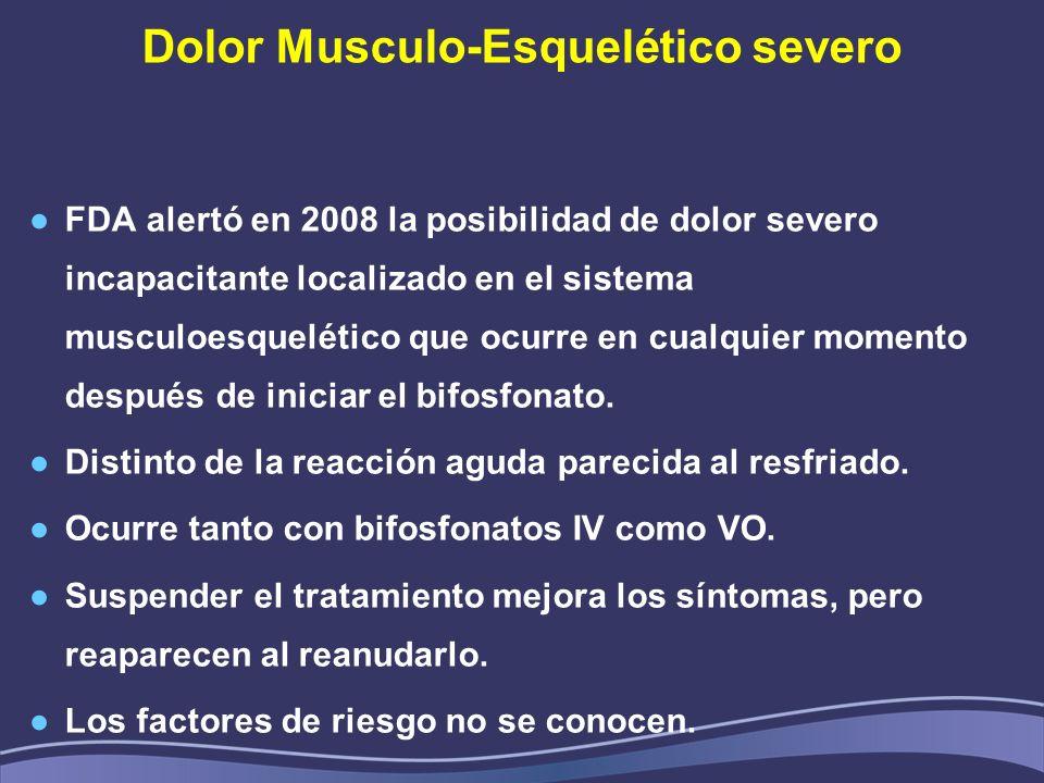Dolor Musculo-Esquelético severo