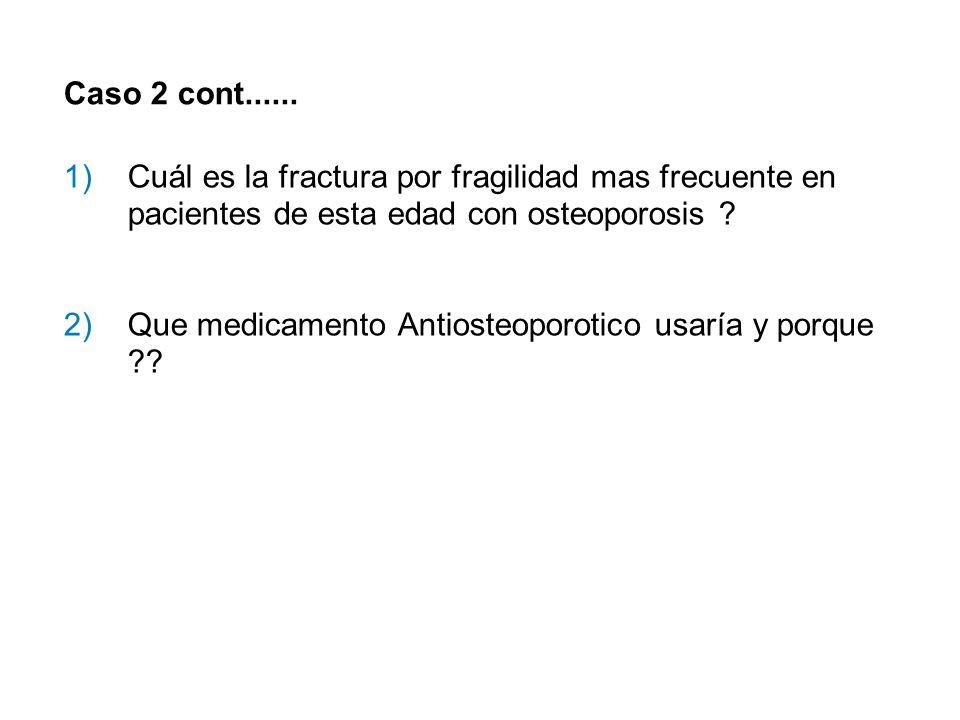 Caso 2 cont...... Cuál es la fractura por fragilidad mas frecuente en pacientes de esta edad con osteoporosis