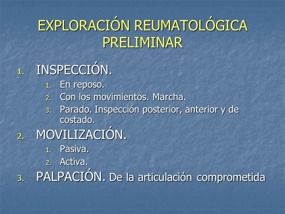 EXPLORACIÓN REUMATOLÓGICA PRELIMINAR