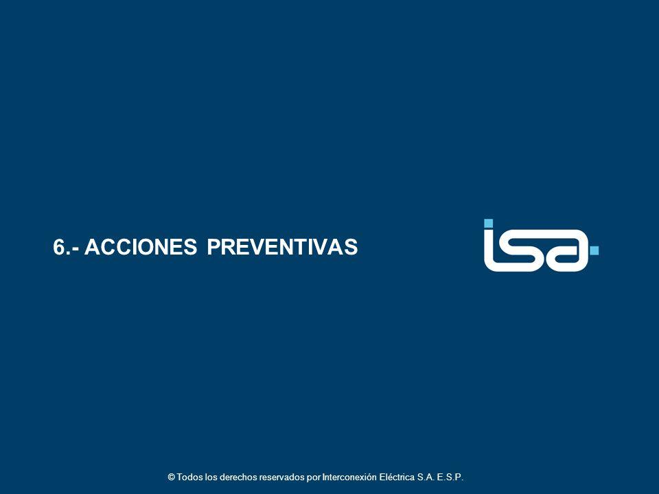 6.- ACCIONES PREVENTIVAS