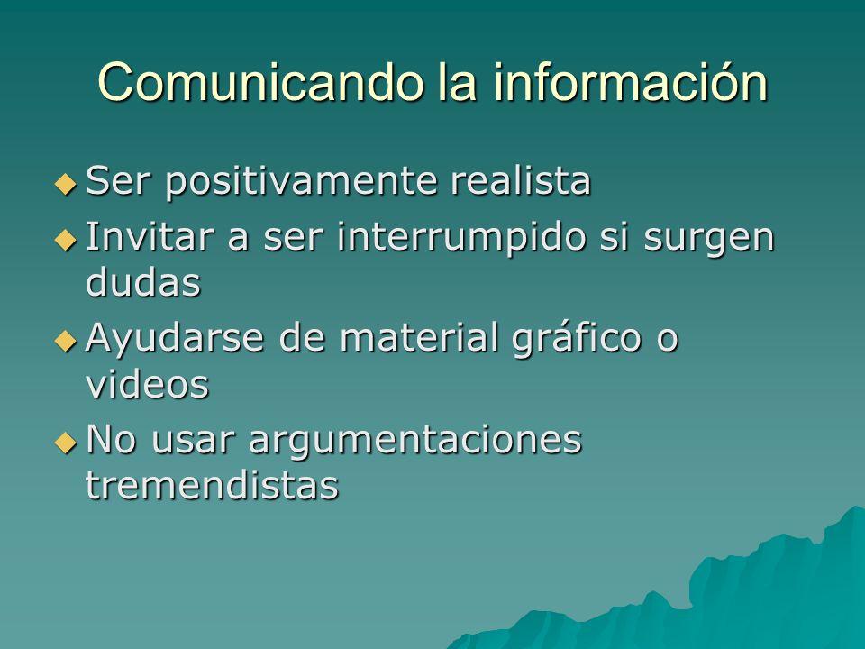 Comunicando la información