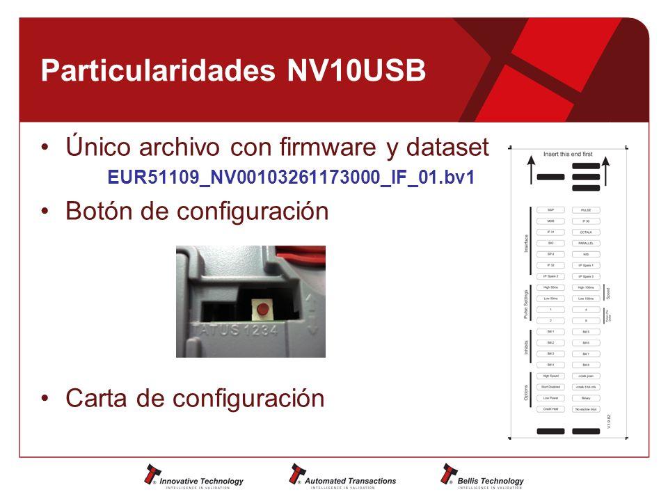 Particularidades NV10USB