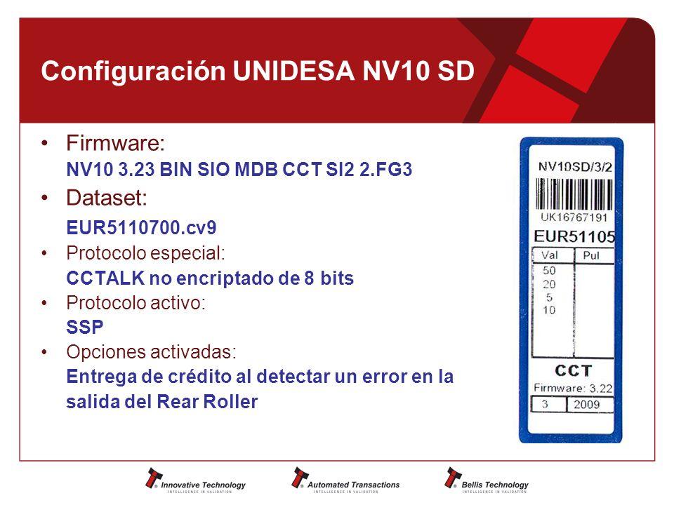 Configuración UNIDESA NV10 SD