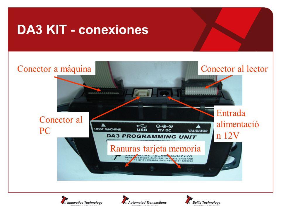 DA3 KIT - conexiones Conector a máquina Conector al lector