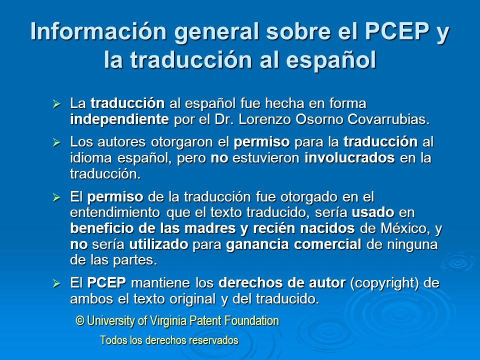 Información general sobre el PCEP y la traducción al español