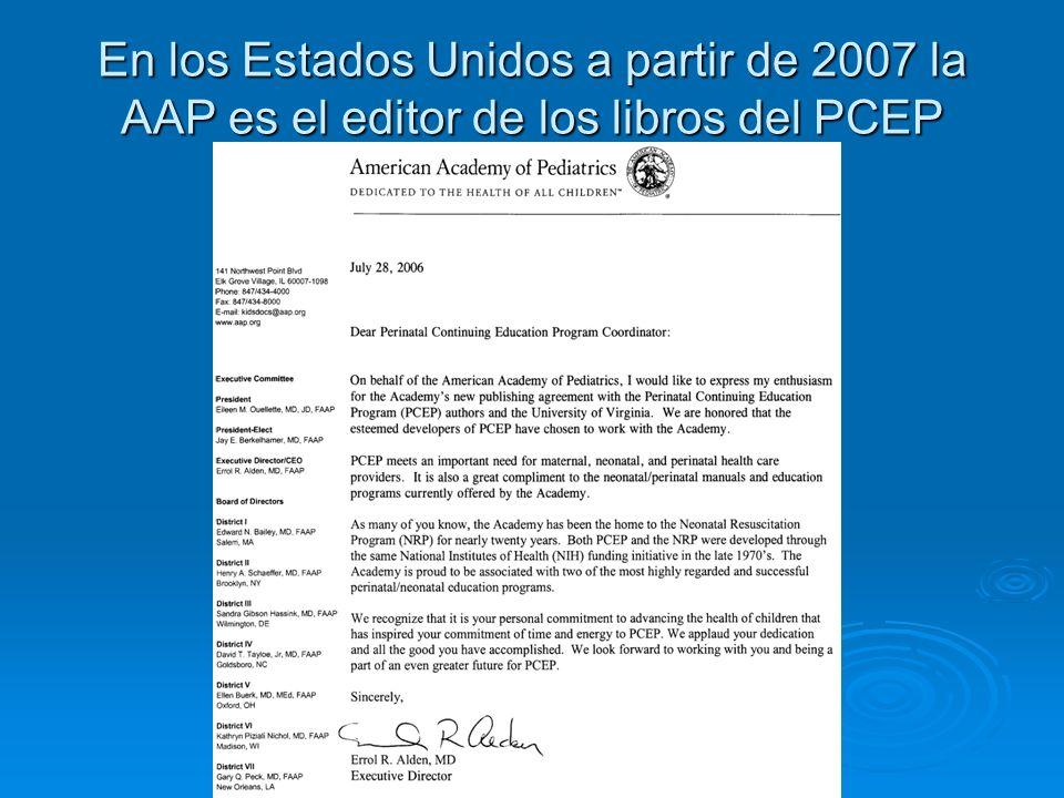 En los Estados Unidos a partir de 2007 la AAP es el editor de los libros del PCEP