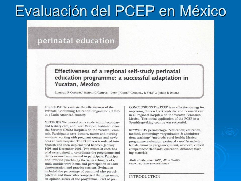 Evaluación del PCEP en México