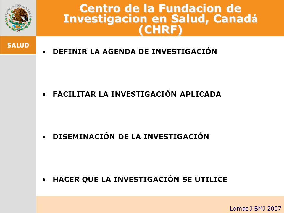 Centro de la Fundacion de Investigacion en Salud, Canadá (CHRF)