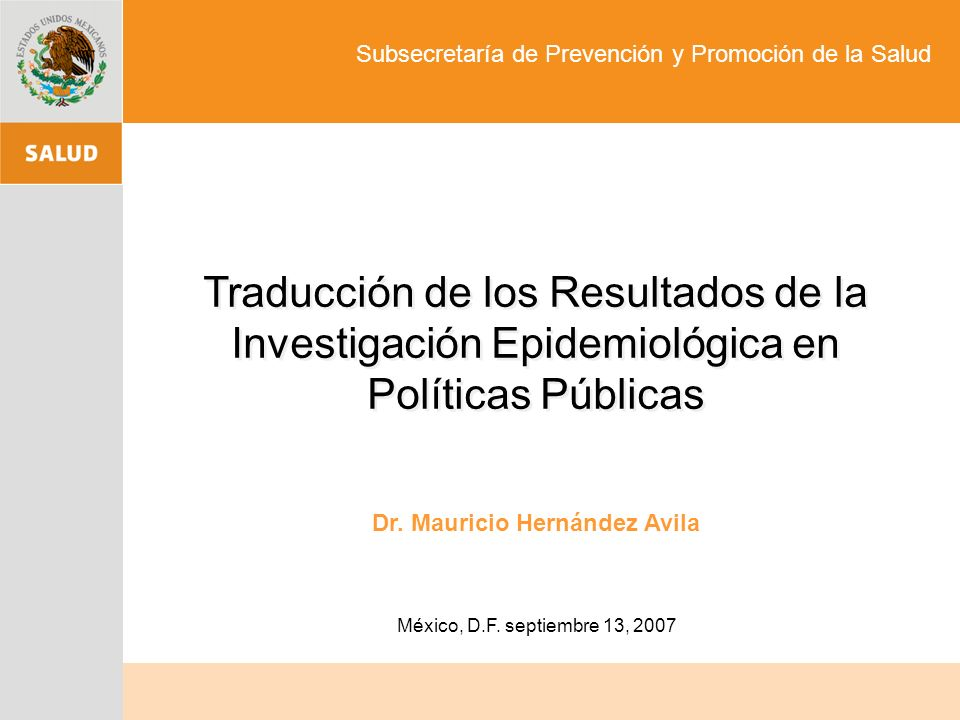 Dr. Mauricio Hernández Avila