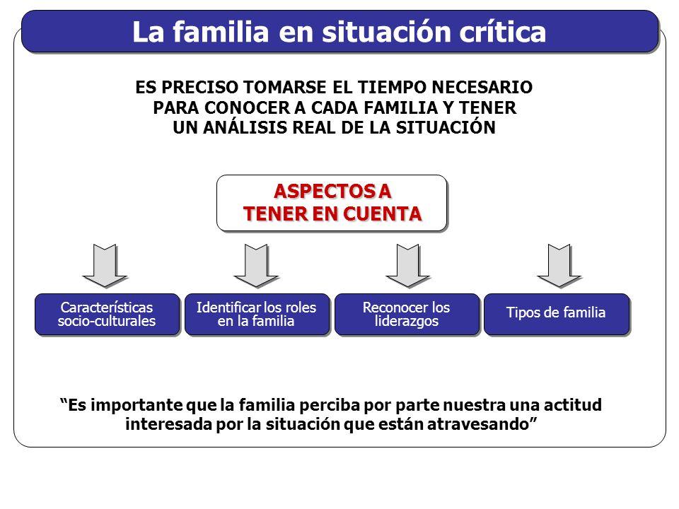 La familia en situación crítica