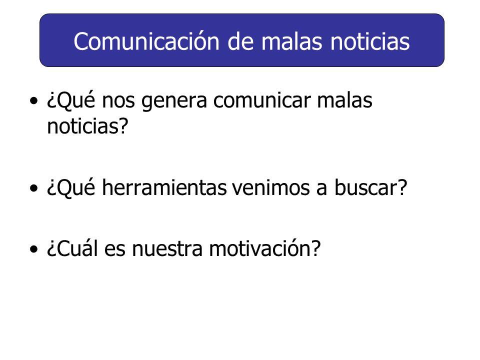 Comunicación de malas noticias