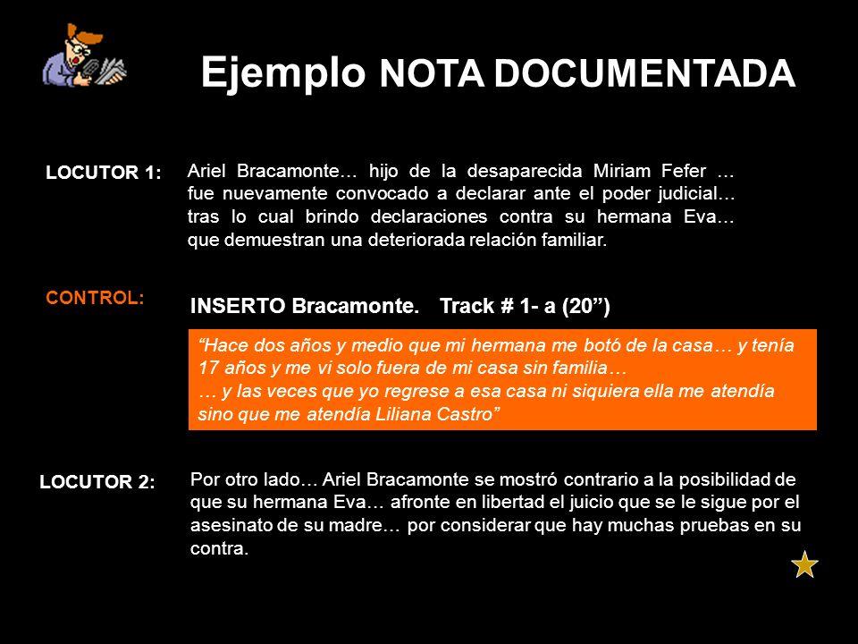 Ejemplo NOTA DOCUMENTADA