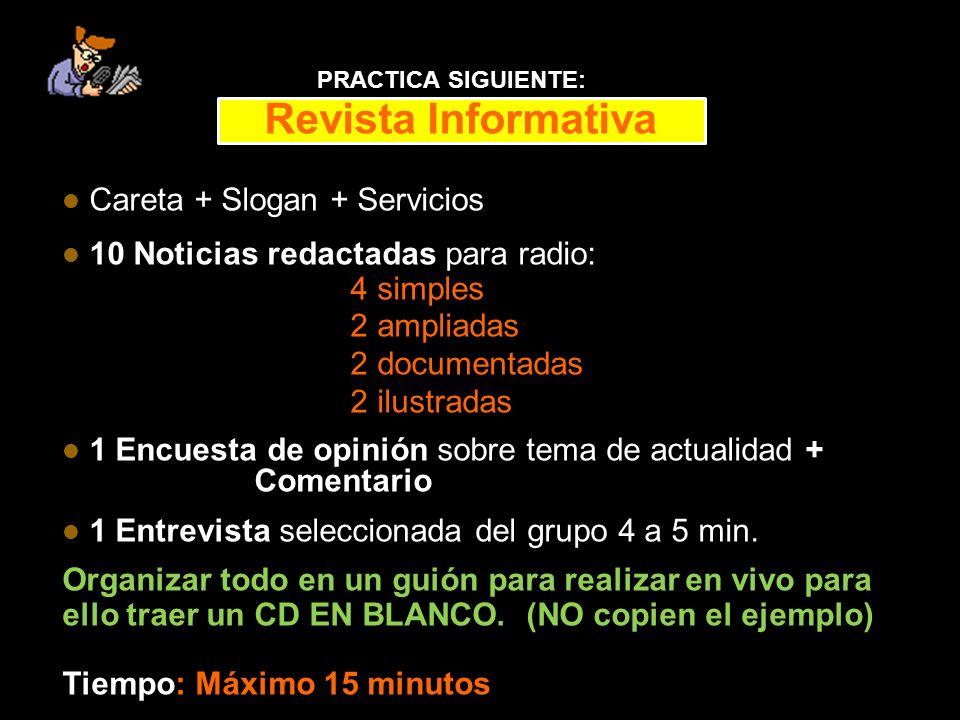 Revista Informativa Careta + Slogan + Servicios