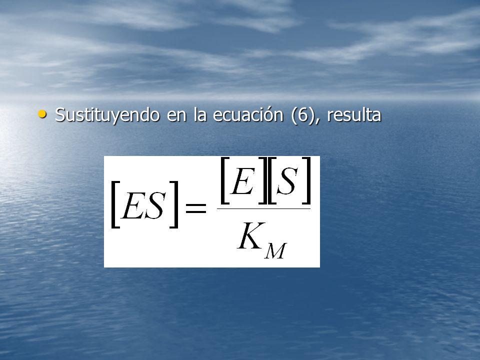 Sustituyendo en la ecuación (6), resulta