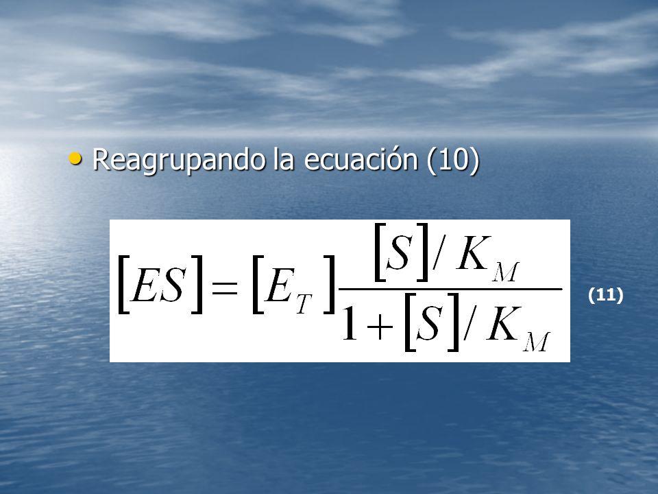 Reagrupando la ecuación (10)