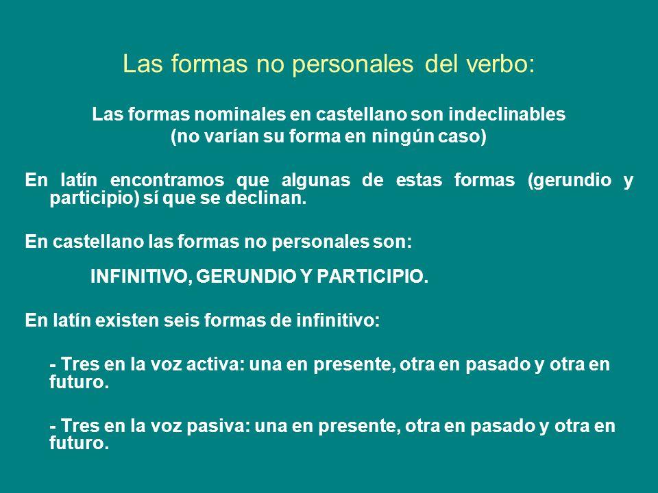 Las formas no personales del verbo: