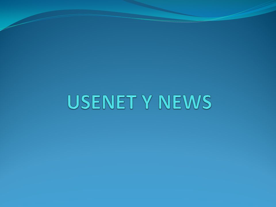 USENET Y NEWS