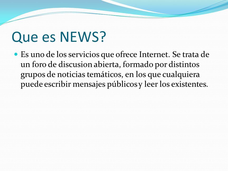 Que es NEWS