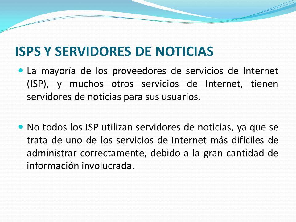 ISPS Y SERVIDORES DE NOTICIAS