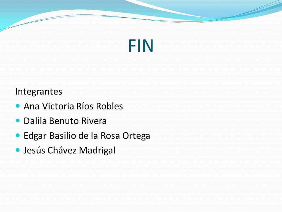 FIN Integrantes Ana Victoria Ríos Robles Dalila Benuto Rivera
