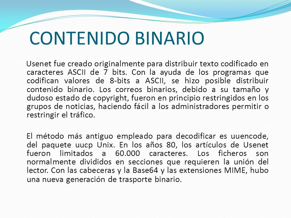 CONTENIDO BINARIO