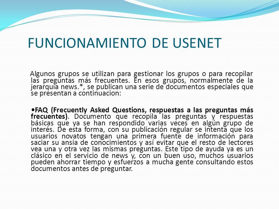 FUNCIONAMIENTO DE USENET