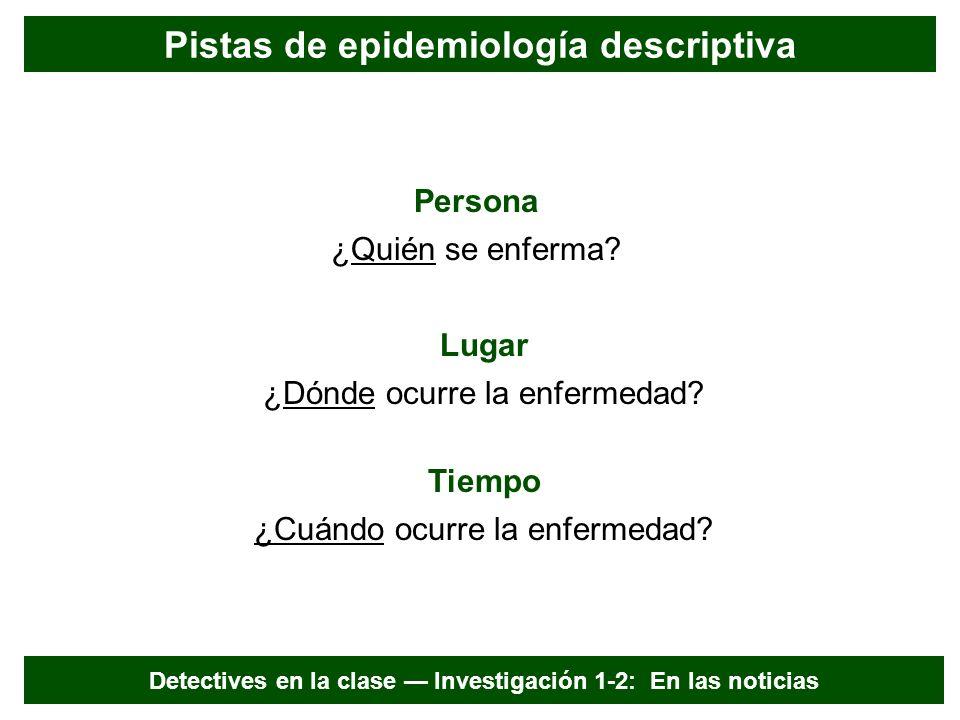 Pistas de epidemiología descriptiva