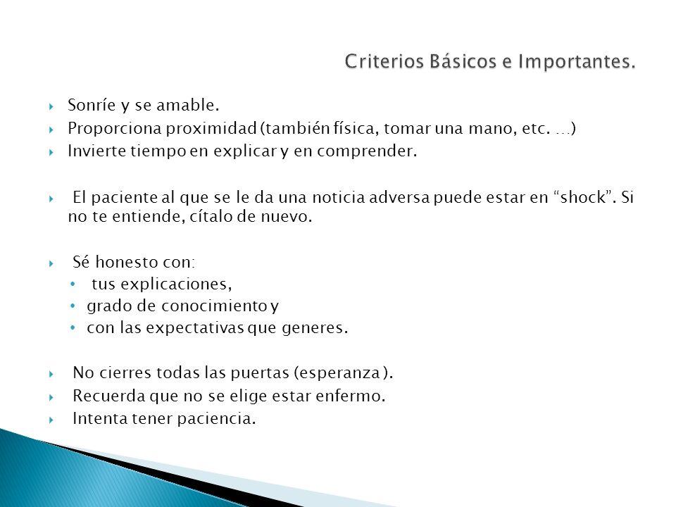 Criterios Básicos e Importantes.