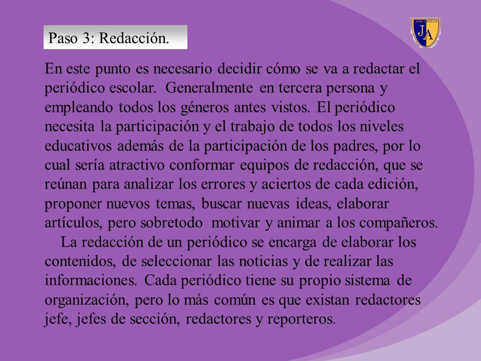 Paso 3: Redacción.
