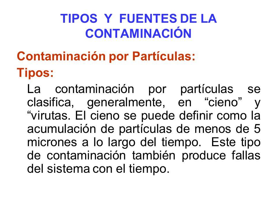 TIPOS Y FUENTES DE LA CONTAMINACIÓN