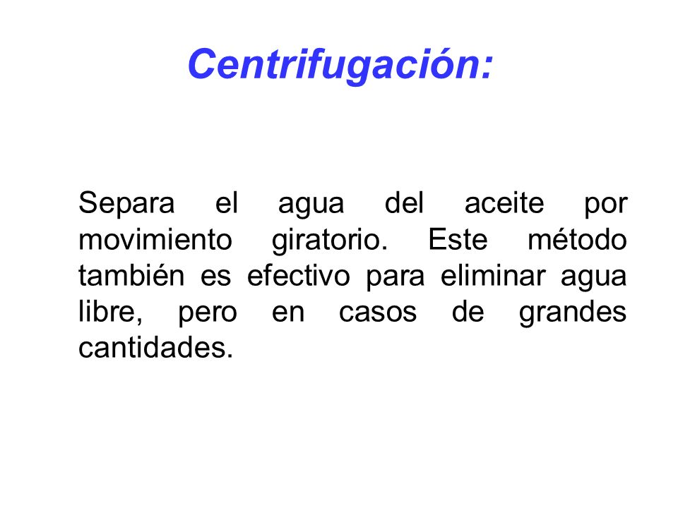Centrifugación: