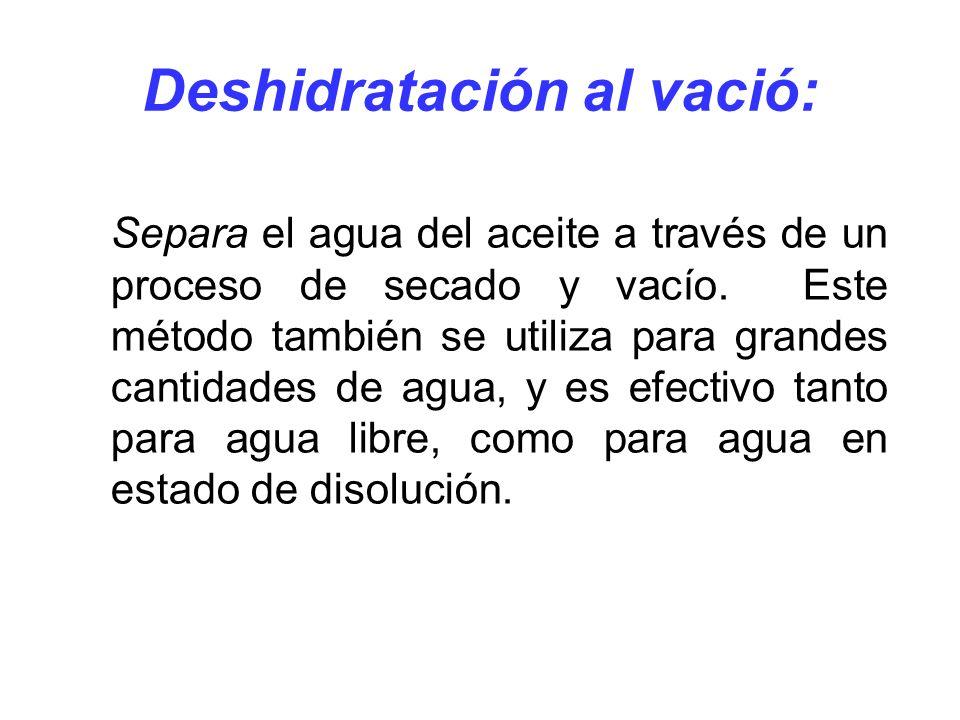 Deshidratación al vació: