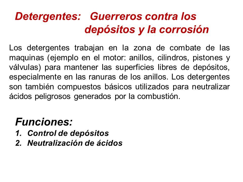 Detergentes: Guerreros contra los depósitos y la corrosión