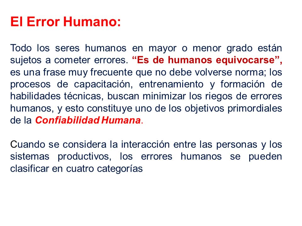 El Error Humano: