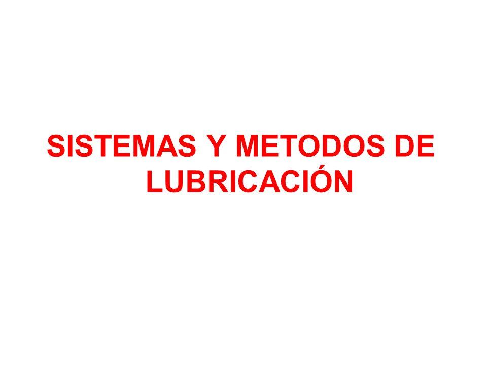 SISTEMAS Y METODOS DE LUBRICACIÓN